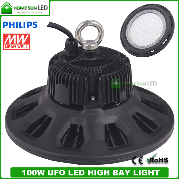100w Ufo Led High Bay Light With Meanwell Driver And
