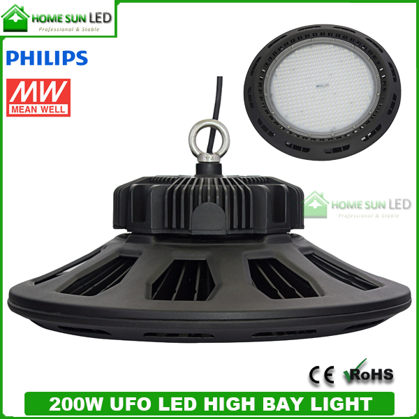 Led High Bay Hs Code: 200W UFO LED High Bay Light With Meanwell LED Driver And